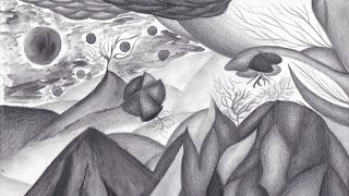 Dreamland - Black and white abstract speed drawing