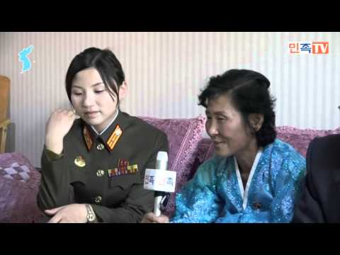 인민체육인 김정선수 댁 방문