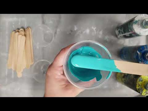 Paint Color Mixing - Turquoise & Teal