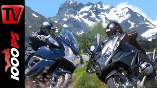 7. 2015 BMW R 1200 RT vs Triumph Trophy SE - Test in the Alps