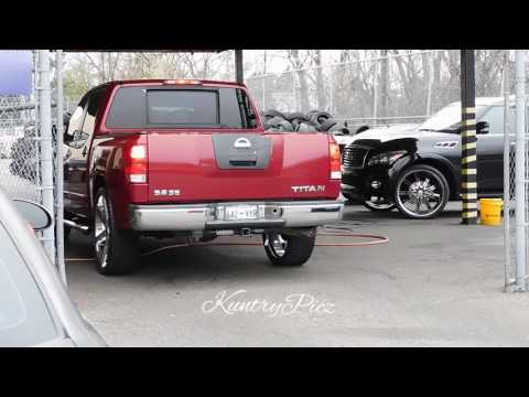 Nissan Titan on versante wheels on beam Memphis whips