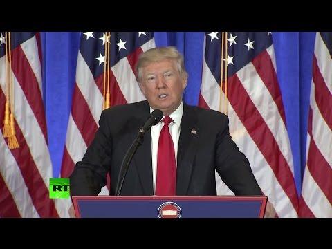 Первая пресс-конференция избранного президента США Дональда Трампа. Прямая трансляция