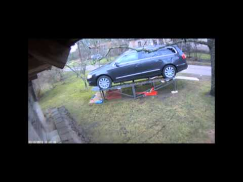 Homemade car lift ramp