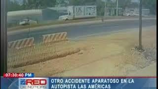 Otro accidente aparatoso en la autopista Las Américas
