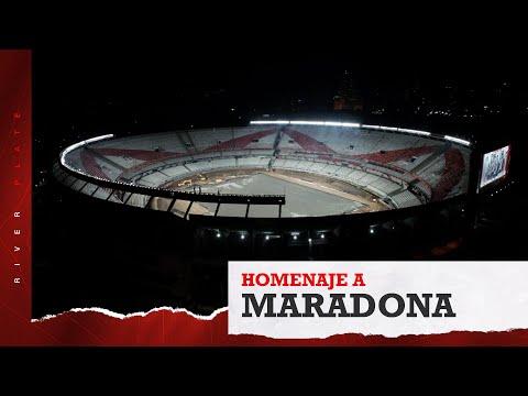 El Monumental brilló en homenaje a Diego Armando Maradona