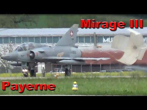 Mirage III Landing Payerne Dassault...
