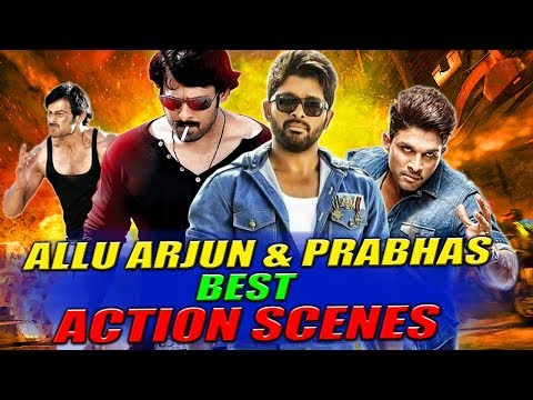 Allu Arjun & Prabhas Best Action Scenes | South Indian Hindi Dubbed Best Action Scenes