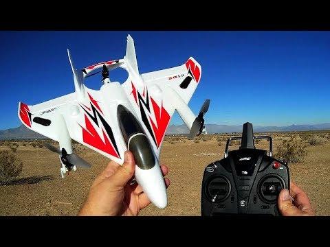 JJRC M02 Brushless VTOL RC Airplane Flight Test Review