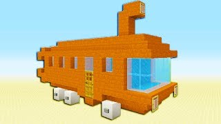 "Minecraft Tutorial: How To Make The Bikini Bottom Bus ""Spongebob Squarepants"""