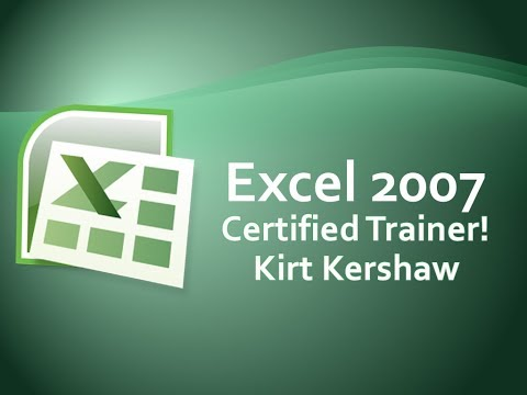 Excel 2007 Tutorial For Beginners - How To Use Excel Part 1
