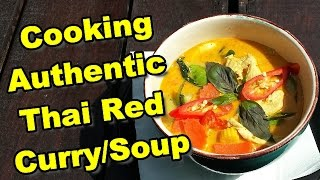 Cooking Thai Red Curry in Thailand