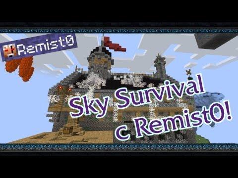 Minecraft. Sky Survival. Этот страшный замок...
