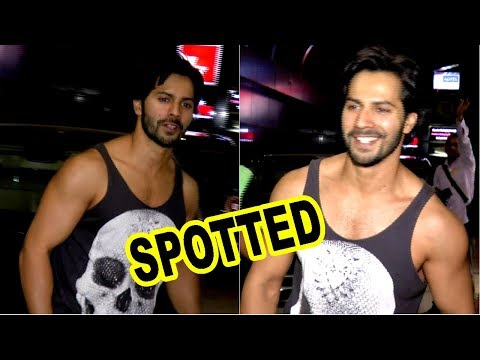 Varun Dhawan Spotted Outside Gym | Body Sculptor |