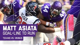 Matt Asiata's 23-Yard Grab & Goal Line TD Blast! | Texans vs. Vikings | NFL by NFL