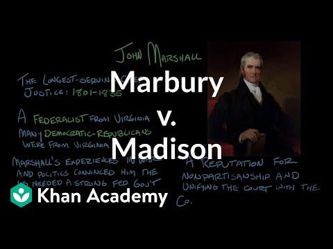 Marbury V Madison Video Khan Academy