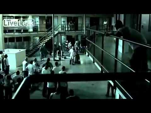 Nasty prison fight