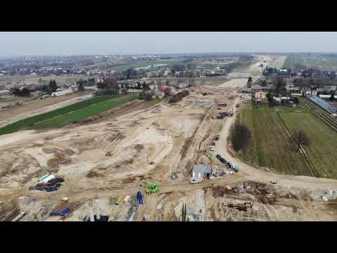 Planowana droga S19 cz 3 obwodnica m Kraśnik - widok lotniczy - marzec 2020 r