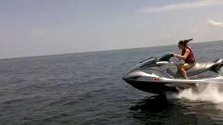 8. Yamaha FX SHO cruising at 60mph, trimmed up