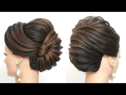Hairstyles for long hair - New French Roll. Latest Bridal Hairstyle For Long Hair Tutorial