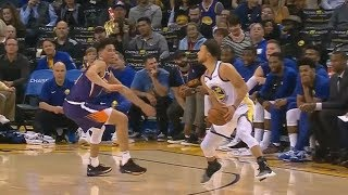 Stephen Curry Crosses Devin Booker and Hits Jumper! Warriors vs Suns