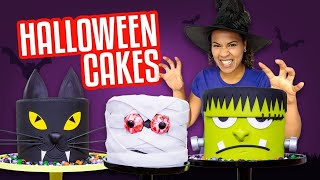 Video HALLOWEEN CAKES!! SPOOKY Frankenstein, Mummy, Black Cat HEADS 🎃 | How To Cake It MP3, 3GP, MP4, WEBM, AVI, FLV Desember 2018