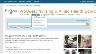 ProQuest Nursing&Allied Health