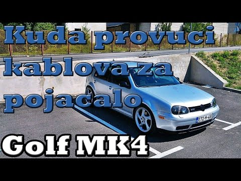 "VW GOLF MK4 - ""PROVLACENJE"" KABLOVA ZA POJACALO"
