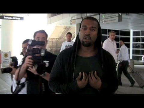 Kanye West – Kicks Off With A Paparazzi #LOL