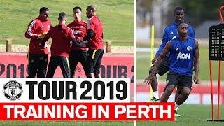 Manchester United | Tour 2019 | Training In Perth | Wan-Bissaka, Pogba, De Gea, Martial