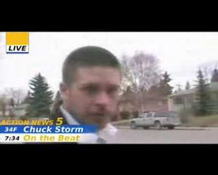 News Reporter Blooper