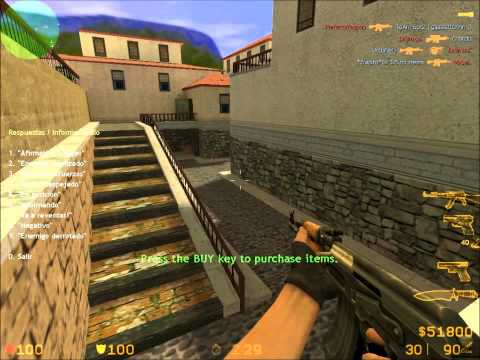 Yo jugando el counter strike 1.6 no steam (mod source) + Link de Descarga (Lee Descripción)