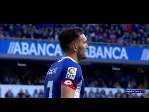 Lucas Perez  Vs Barcelona - Every Meaningful Touch/Run