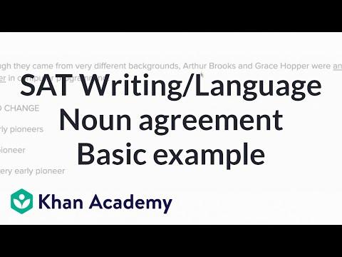 Writing Noun Agreement Basic Example Video Khan Academy