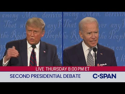 Second 2020 Presidential Debate between Donald Trump and Joe Biden