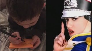 5-Year-Old Boy Writes First Word After Memorizing Lyrics From 'Hollaback Girl' full download video download mp3 download music download