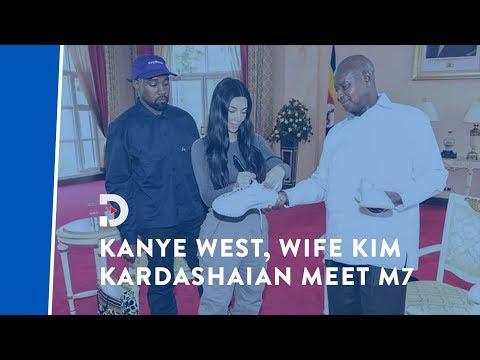 Kanye West gifts Yoweri Museveni white sneakers on Ugandan trip