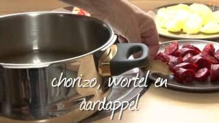 Spaanse stoofpot van linzen en chorizo