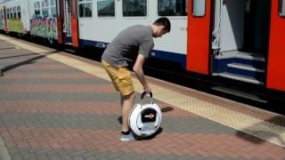 Op de trein met je Kingsong wiel