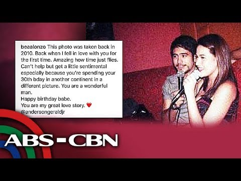 Birthday messages - UKG: Bea Alonzo may sweet birthday message para kay Gerald Anderson
