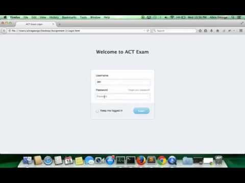 Sample ACT Online Exam Application Using HTML 5 Tags