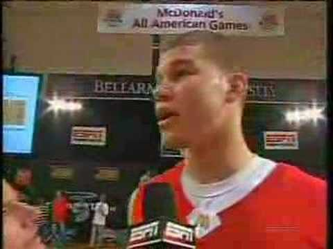 dunkfest - Blake Griffin (Oklahoma committment) wins the McDonald's All-American slam dunk contest. (Contest aired 3/28/2007.)