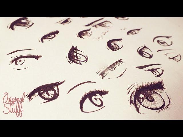 C mo dibujar ojos tipo manga anime original for Tipos de manga japones