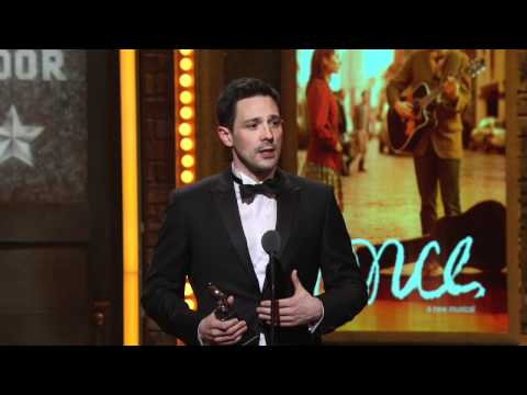 Kazee - Steve Kazee of Once accepting a Tony Award during the 2012 Tony ceremony.