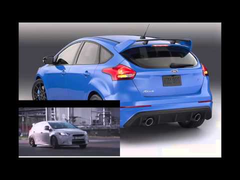BLues Ford Focus RS gets 350 hp, all-wheel-drive rocket