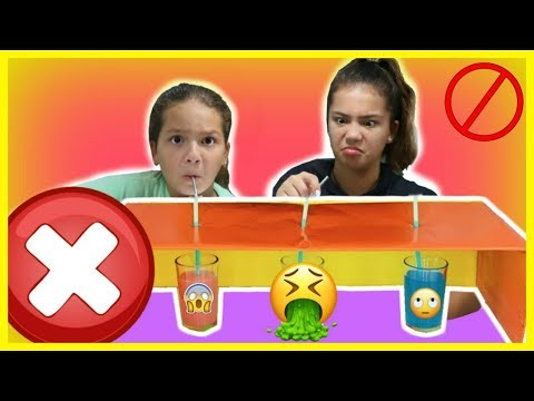 DON'T DRINK FROM THE WRONG STRAW CHALLENGE | SISTER FOREVER