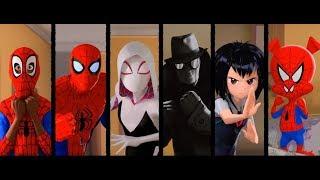 Spider-Man: Into the Spider-Verse - Spiderman vs Sinister Six Fight Scene (1080p)