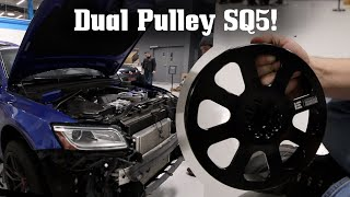 SQ5 Goes Integrated Engineering DUAL PULLEY! by Ignition Tube