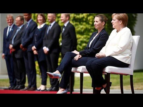 Η Μέρκελ υποδέχτηκε καθιστή την πρωθυπουργό της Δανίας…