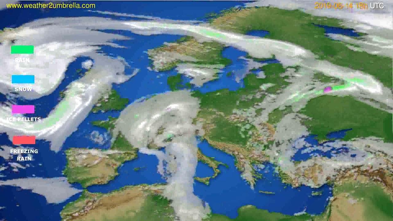 Precipitation forecast Europe // modelrun: 12h UTC 2019-06-12