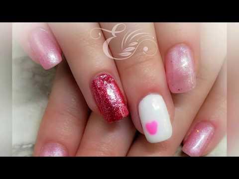 Gel nails - Watch Me Work  Valentine's Gel Nail Tutorial